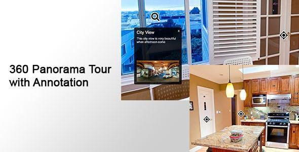 360 Panorama Tour with Annotation
