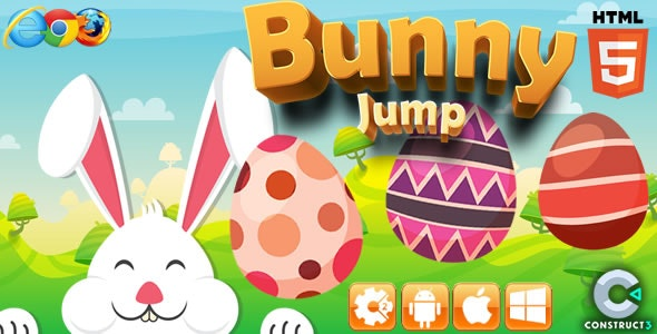 Bunny Jump - HTML5 Game (CAPX) - CodeCanyon Item for Sale