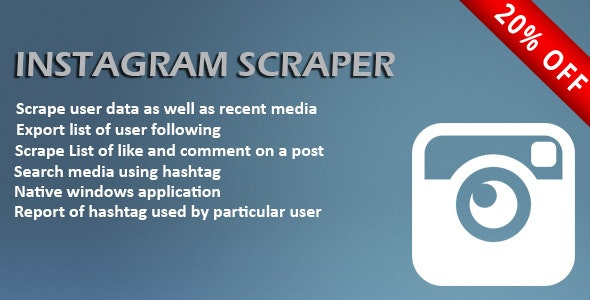 Instagram Scrapper - CodeCanyon Item for Sale