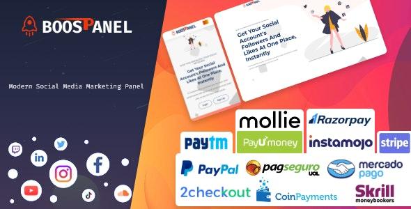 BoostPanel - SMM Panel Script - CodeCanyon Item for Sale