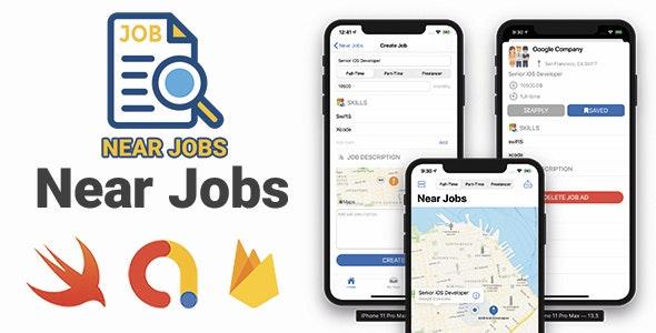 Near Jobs - Full iOS Application - CodeCanyon Item for Sale