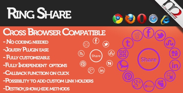 RingShare: best way to share your content - CodeCanyon Item for Sale