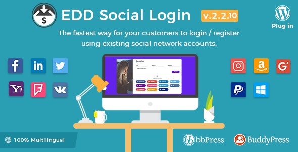 Easy Digital Downloads - Social Login - CodeCanyon Item for Sale