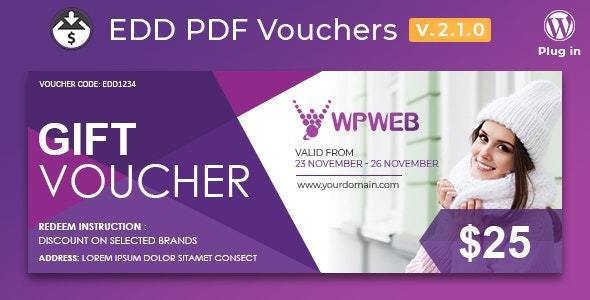 Easy Digital Downloads - PDF Vouchers - CodeCanyon Item for Sale