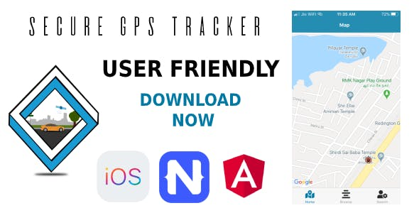 Secure GPS Tracker for IOS
