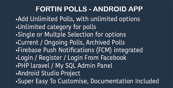 Fortin Poll - Survey Android App with Admin Panel - CodeCanyon Item for Sale