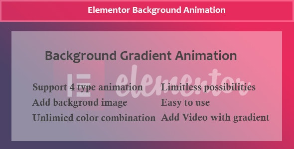 Elementor - Background Gradient Animation - CodeCanyon Item for Sale
