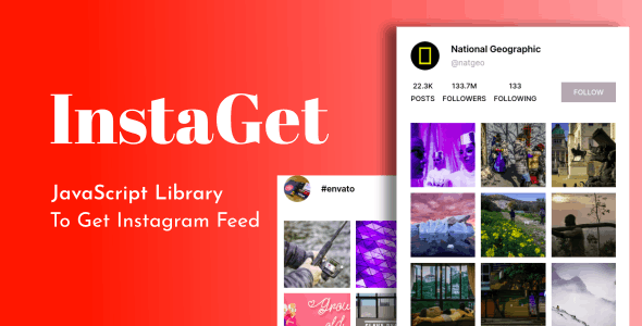 InstaGet - JavaScript Library for Instagram - CodeCanyon Item for Sale