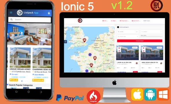 Listpack Ionic 5 Classified Ads  Android  + IOS + Frontend + Backend - CodeCanyon Item for Sale