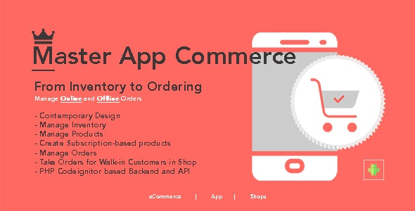 Master eCommerce App - Android app with admin panel - CodeCanyon Item for Sale