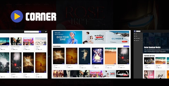 Corner - Movie & TV Show Download and view script Theme - CodeCanyon Item for Sale