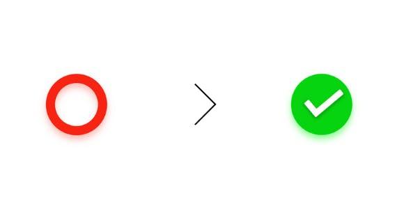 A unique creative toggle button