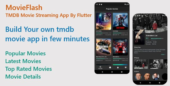 MovieFlash-TMDB Movie Streaming App By Flutter