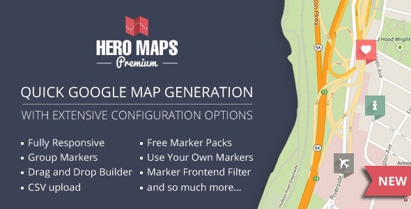 Hero Maps Premium - Responsive Google Maps Plugin - CodeCanyon Item for Sale
