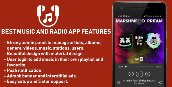 Best Music and Radio App - CodeCanyon Item for Sale