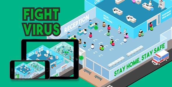 Fight Virus - HTML5 Game