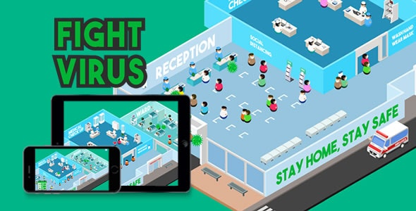 Fight Virus - HTML5 Game - CodeCanyon Item for Sale