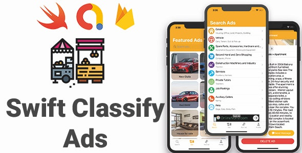 Swift Classify Ads | Full iOS Application - CodeCanyon Item for Sale