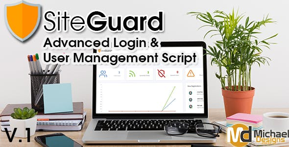 SiteGuard Advanced PHP Login & User Management Script