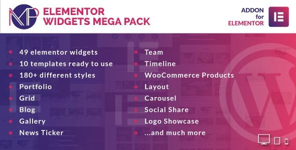 Elementor Widgets Mega Pack - Addons for Elementor Page Builder WordPress Plugin - CodeCanyon Item for Sale