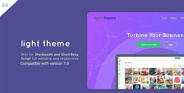 Light – Theme for Stackposts and GramEasy