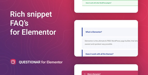 Questionar – FAQ Accordions for Elementor - CodeCanyon Item for Sale
