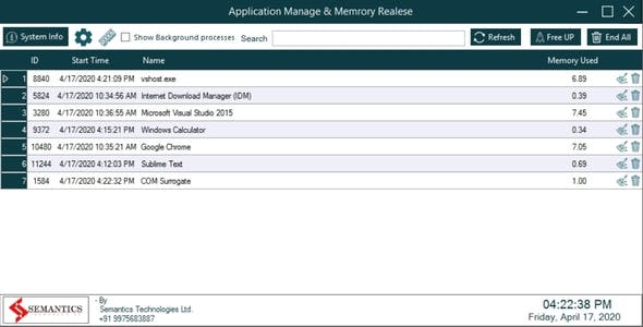 Memory and Cache Cleaner Software | Full Source Code