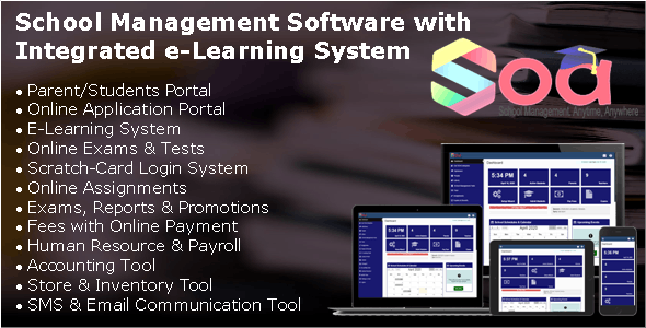 SOA - School Management Software with Integrated E-Learning System & Parents/Students Portal - CodeCanyon Item for Sale