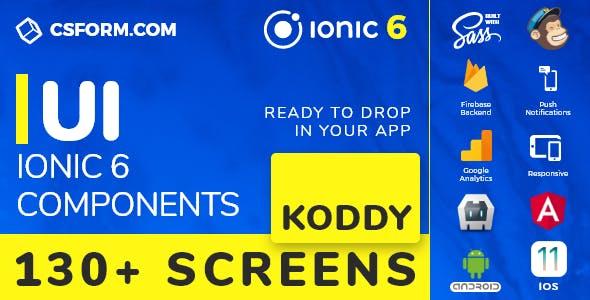 Koddy | Ionic 6 / Angular 9 UI Theme / Template App | Components & Starter App