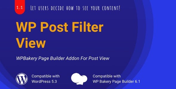 WP Post Filter View | WPBakery List/Grid View Addon