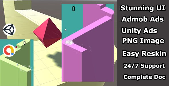 jumping ball Arcade game unity source code