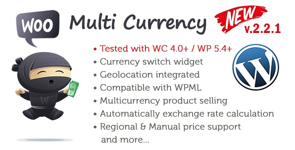 My Woo Multi Currency WordPress Plugin - WooCommerce Currency Switcher