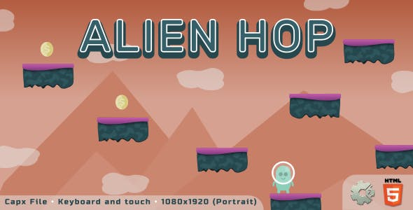 Alien Hop - HTML5 Skill game
