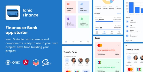 Ionic Finance | Ionic 5 | Angular | UI Theme | Template App | Starter App & Components - CodeCanyon Item for Sale