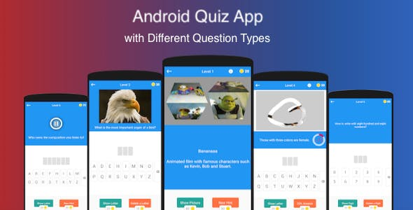 Android Quiz App with Different Questions Types