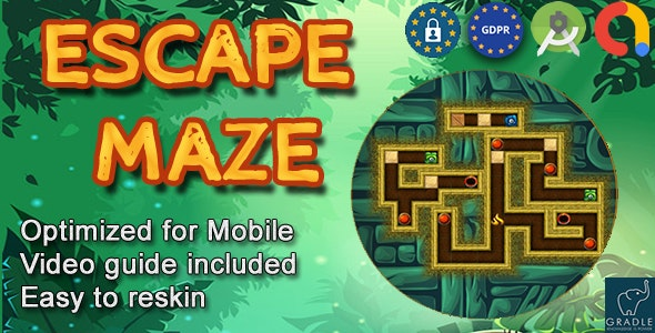 Escape Maze (Admob + GDPR + Android Studio) - CodeCanyon Item for Sale