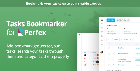 Tasks Bookmark module for Perfex CRM - CodeCanyon Item for Sale