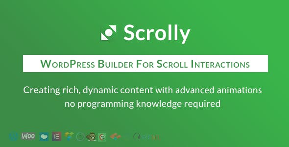 Scrolly - WordPress Builder for scroll interactions