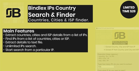 Bindlex IPs Country Search & Finder - CodeCanyon Item for Sale