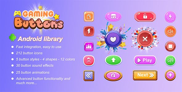 Awesome gaming buttons - Android library