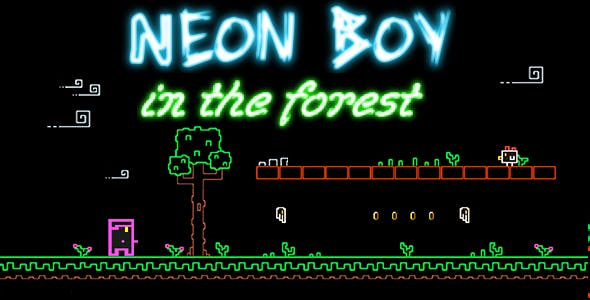 Neon Boy - in the forest