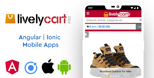 LivelyCart PRO - Angular | Ionic Mobile Apps