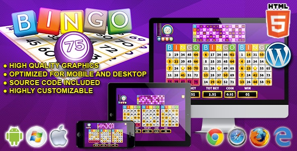 Bingo 75 - HTML5 Casino Game - CodeCanyon Item for Sale