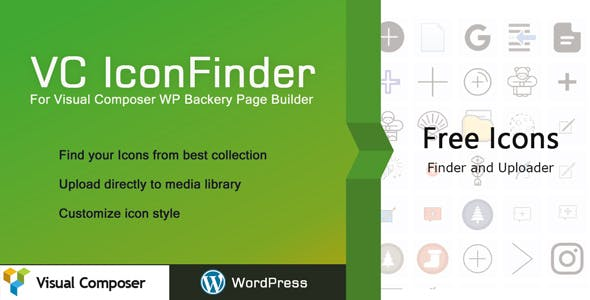 VC Icon Finder - WPBackery Page Builder Icon finder