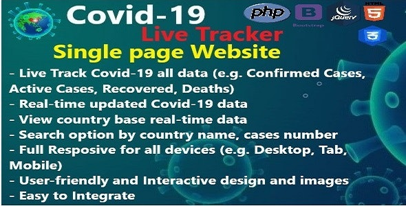 Covid-19 Live Tracker - CodeCanyon Item for Sale