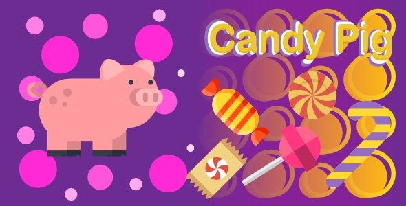 Candy Pig | Html5 Mobile Game | android & ios - CodeCanyon Item for Sale