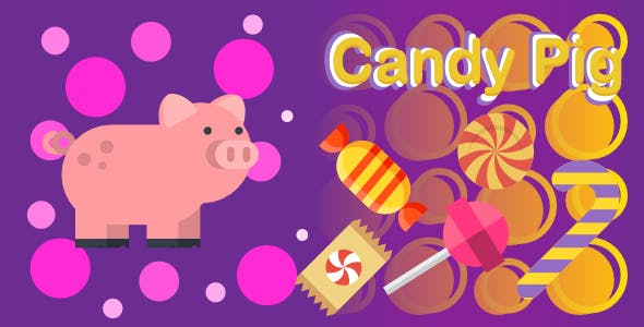 Candy Pig | Html5 Mobile Game | android & ios