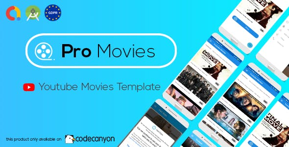Pro Movies Youtube Minimal (Admob - GDPR - Android Studio )