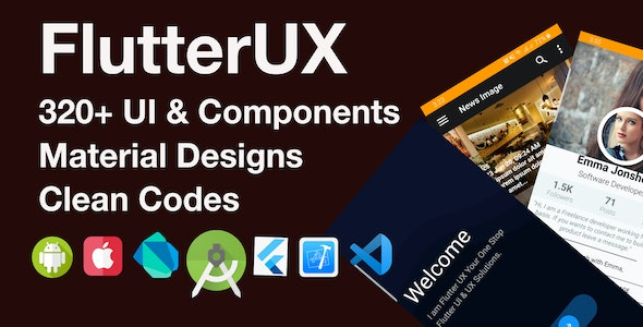 FlutterUX-Best Flutter UI Templates - CodeCanyon Item for Sale