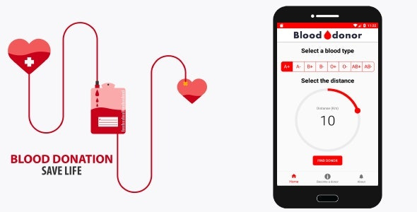 Blood donation (Android) - CodeCanyon Item for Sale